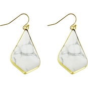 Panacea Howlite Cut Stone Earrings