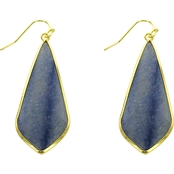 Panacea Elongated Blue Stone Earrings