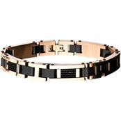 Stainless Steel Rose Gold Ion Plated Link Bracelet