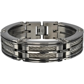 Stainless Steel 2 Chunky Big Cable Bracelet
