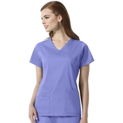 WonderWink Charlotte V Neck Scrub Top
