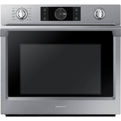 Samsung 30 in. Steam Cook Convection Single Wall Electric Oven with Flex Duo