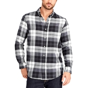 Chaps Large Check Button Down Shirt