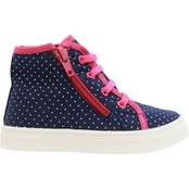Oomphies Toddler Girls Skyelar Canvas Mid Cut Sneakers
