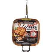 TeleBrands Red Copper 12 in. Square Pan