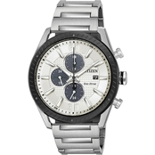 Citizen Men's Drive Eco Drive Stainless Steel Chronograph Watch CA066852A