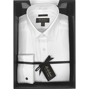 Michelsons Boxed Tux Shirt with Spread Collar