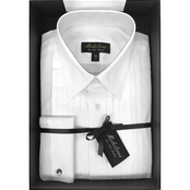 Michelsons Boxed Tux Shirt with Point Collar Poplin Fabrication