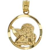 14K Yellow Gold Divino Cherub Charm