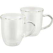 BonJour Coffee Insulated Borosilicate Glass Cappuccino Cup 2 pk.