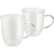 BonJour Coffee 2 pc. Insulated Borosilicate Glass Espresso Cup Set