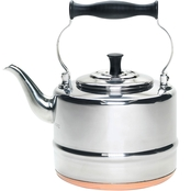 BonJour Tea Stainless Steel and Copper Base Gooseneck Teakettle