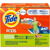 Tide Pods Plus Febreze Active Fresh HE Laundry Detergent Pacs, 90 ct.