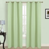Dainty Home Blended Silk Window Panel Pair