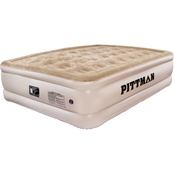 Pittman Outdoors Queen Comfort Double High Air Mattress And Built-in Electric Pump