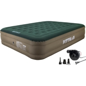 Pittman Outdoors Queen Fabric Ultimate 16 In. Air Mattress With Portable Air Pump