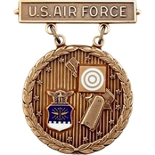 Air Force Pistolshot Competition Bronze Excellence Badge, Pin-On, Subdued