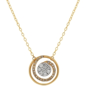 14K Yellow Gold 1/5 CTW Diamond Circle Swirl Pendant