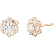 10K Rose Gold 1/2 CTW Diamond Earrings