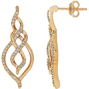 10K Yellow Gold 1/8 CTW Diamond Earrings