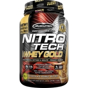 MuscleTech Nitro Tech 100% Whey Gold Peanut Butter