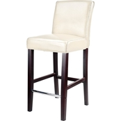 CorLiving Antonio Bar Height Stool in Bonded Leather