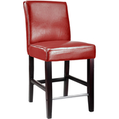 CorLiving Antonio Counter Height Stool in Bonded Leather