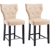 CorLiving Kings Counter Height Stool in Bonded Leather 2 Pk.