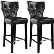 CorLiving Kings Bar Height Stool in Bonded Leather 2 Pk.