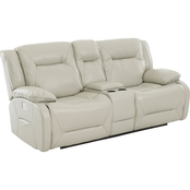 Klaussner Dansby Power Reclining Loveseat with Power Headrest