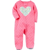 Carter's Infant Girls Heart Sleep and Play