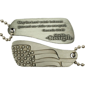 Shields of Strength Genesis 31:49 Split Antique Finish Dog Tag Necklace 2 part