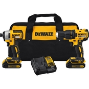 DeWalt 20V MAX 1.5 Ah Lithium-Ion Compact Brushless Drill and Impact Driver Kit