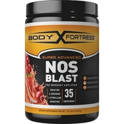 Body Fortress Super Advanced NOS Blast, Pre-Workout Amplifier, Fruit Punch 1 lb.