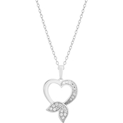 Disney Enchanted Sterling Silver 1/5 CTW Diamond Ariel Fashion Pendant