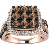 10K Rose Gold 1 CTW Diamond Ring, Size 7