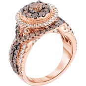 10K Rose Gold 2 CTW Diamond Ring, Size 7