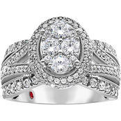 10K White Gold 1 1/2 CTW Diamond Ring, Size 7