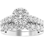 10K White Gold 2 CTW Diamond Ring, Size 7