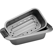 Anolon Advanced Nonstick Bakeware 2 pc Silicone Grips Loaf Pan Set
