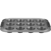 Anolon Advanced Nonstick Bakeware 12 Cup Silicone Grips Muffin Pan