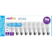 Ubrite A19 8W LED/60W Light Bulbs 10 Pk.