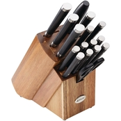 Anolon 17 pc. Japanese Stainless Steel Knife Block Set