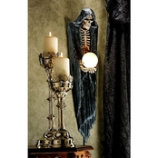 Design Toscano The Grim Reaper Illuminated Wall Sculpture
