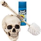 Design Toscano Bathroom Skullduggery Toilet Bowl Brush