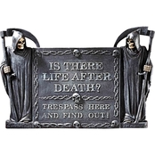 Design Toscano Life After Death: No Trespassing Wall Sculpture