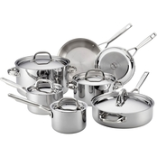 Anolon Tri Ply Clad Stainless Steel 12-Piece Cookware Set