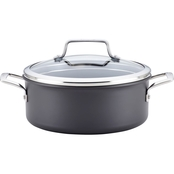 Anolon Authority Hard Anodized Nonstick 5 Quart Covered Dutch Oven, Gray