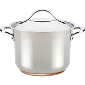 Anolon Nouvelle Copper Stainless Steel 6.5 Qt. Covered Stockpot