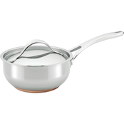 Anolon Nouvelle Copper Stainless Steel 2.5 Qt. Covered Saucier